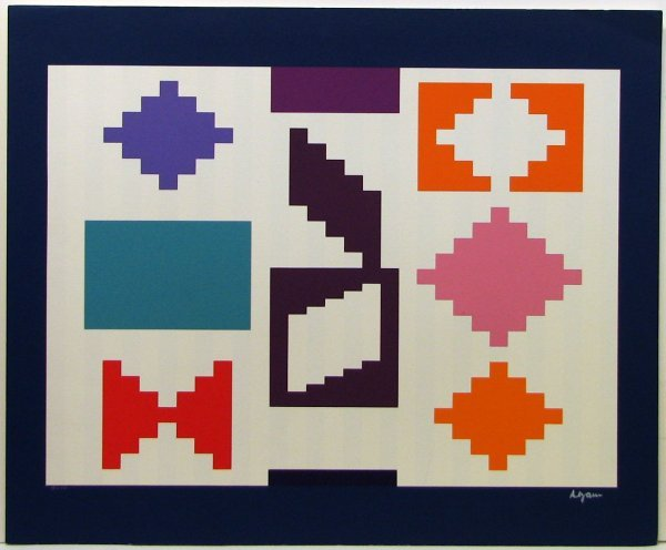 105: Agam Serigraph Pencil Signed & Numbered