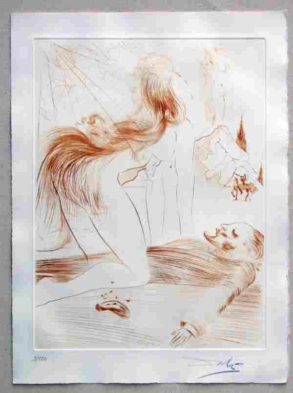 201: Salvador Dali 1968 Engraving Pencil Signed & Numbe