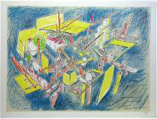 414 Roberto Matta Lithograph Pencil Signed  Numbered