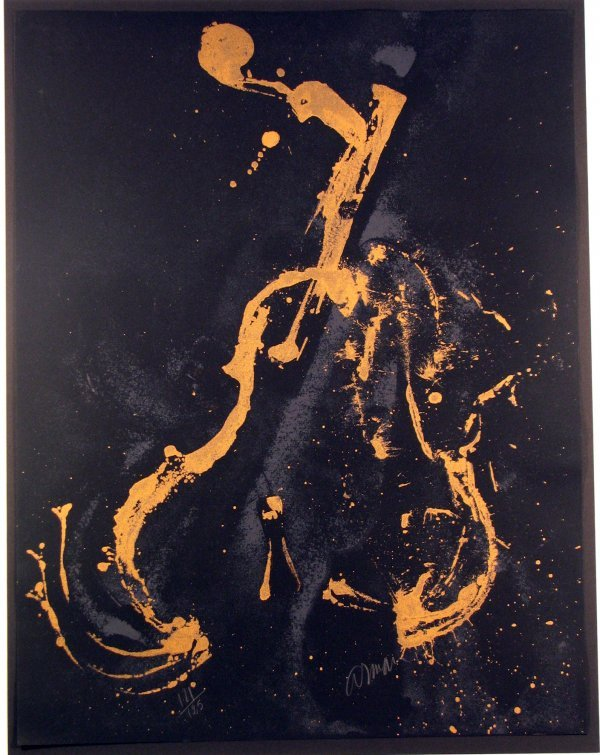 1011: Arman Violins Lithograph Pencil Signed & Numbered