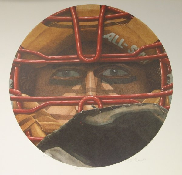 1016: Dwight Baird Baseball Lithograph Signed & Numbere