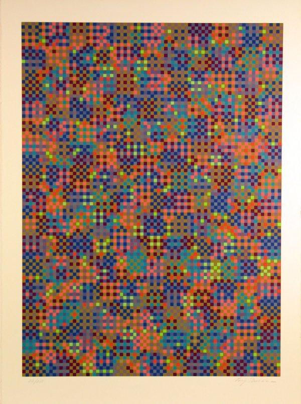 1023: Tony Bechara (Vasarely Style) Pencil Signed & Num