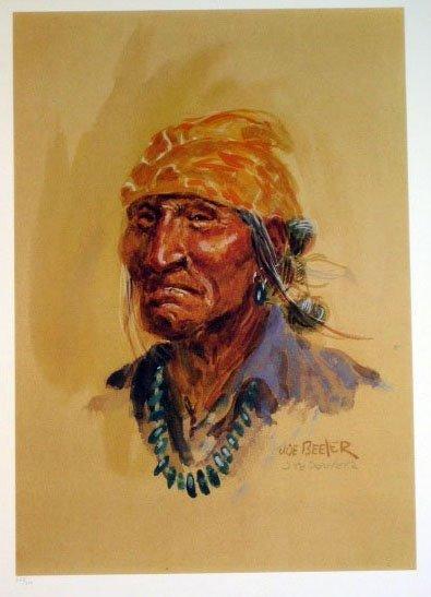 1024: Joe Beeler Navajo Indian Pencil Signed & Numbered