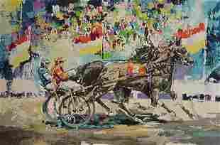 Wayland Moore (Leroy Neiman Style) Horse Racing