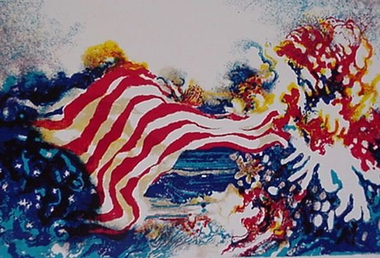 3609: Ronald Julius Christensen American Flag S/N