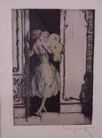 3763: Louis Icart Etching Signed