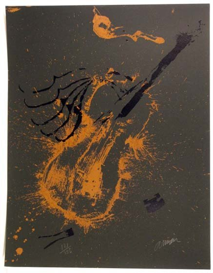 1514: Arman Violins Lithograph Pencil Signed & Numbered