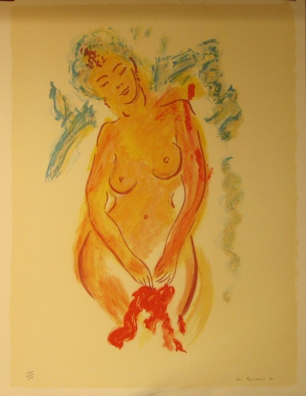 1622: Wayne Ensrud Nude Pencil Signed & Numbered