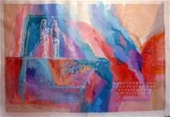 1931: Calman Shemi Original Oil on Canvas Painting Isra