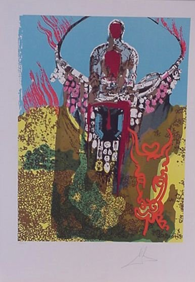 4103: Dali Bullfighter Pencil Signed & Numbered