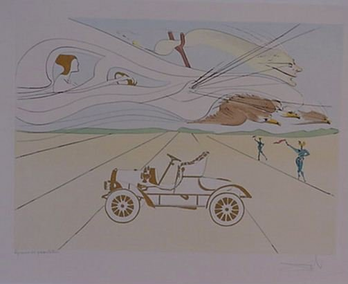 4110: Dali Automobile Pencil Signed & Numbered
