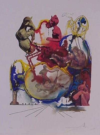 4117: Dali Satyr Pencil Signed & Numbered