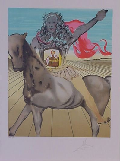 4123: Dali Chevailier Surrealiste Signed & Numbered