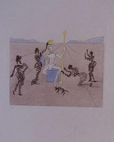 4124: Dali Don Quixote Pencil Signed & Numbered