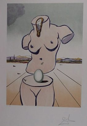 4142: Dali Birth of Venus Pencil Signed & Numbered