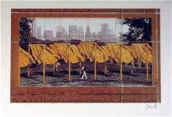 2080: Christo Gates Central Park New York Pencil Signed