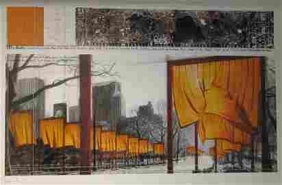 2081: Christo Gates Central Park New York Pencil Signed