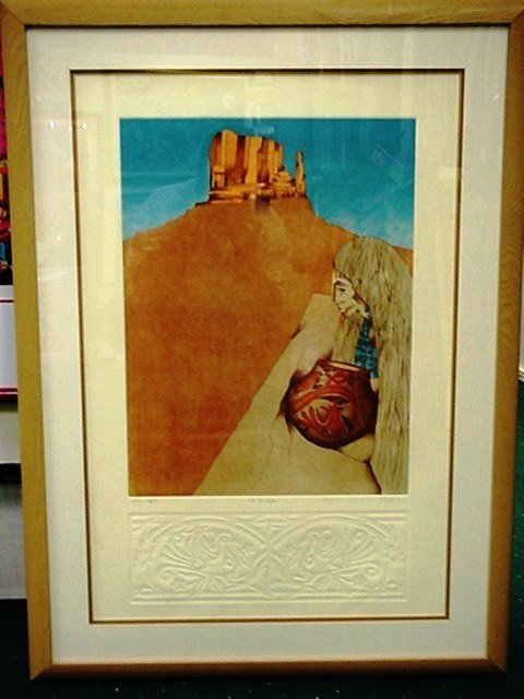 5502: Amado Maurillo Pena Pencil Signed & Numbered