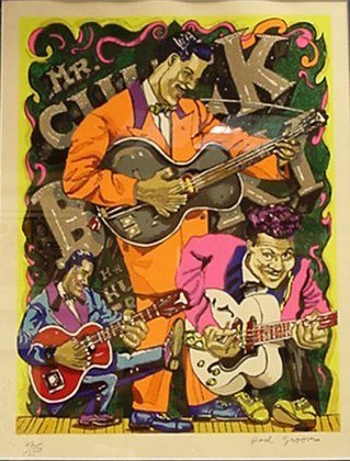 5513: Red Grooms Chuck Berry Signed & Numbered