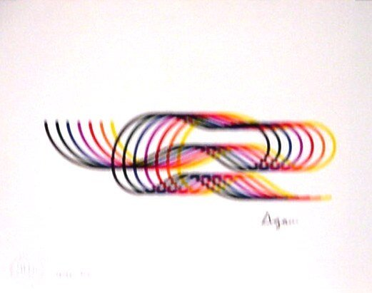 5516: Agam Lithograph Pencil Signed & Numbered
