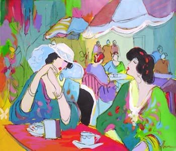 5763: Issac Maimon Oil on Canvas Signed