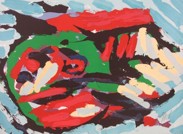 3515: Karel Appel Lithograph Pencil Signed & Numbered