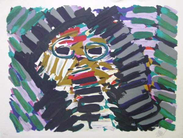 3516: Karel Appel Lithograph Pencil Signed & Numbered