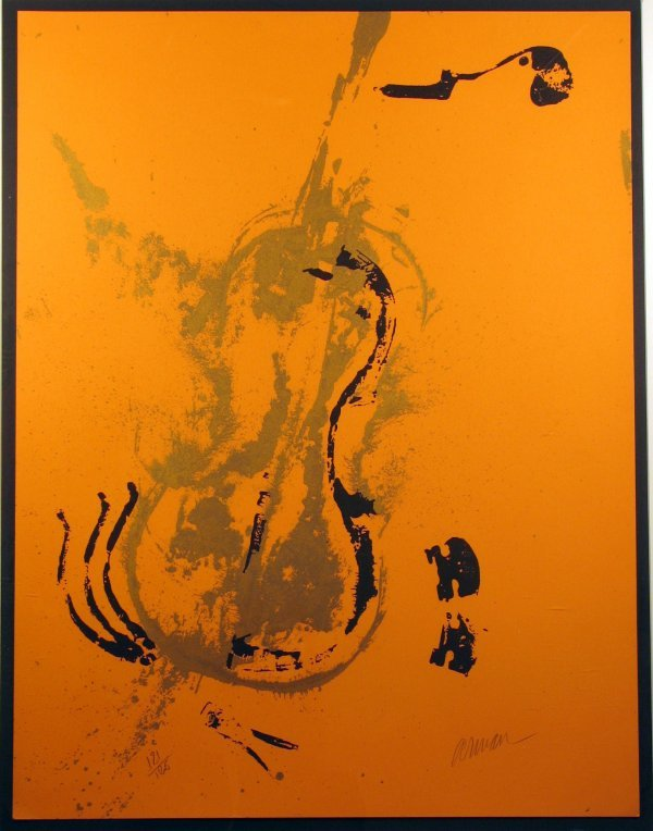 3518: Arman Violins Lithograph Pencil Signed & Numbered