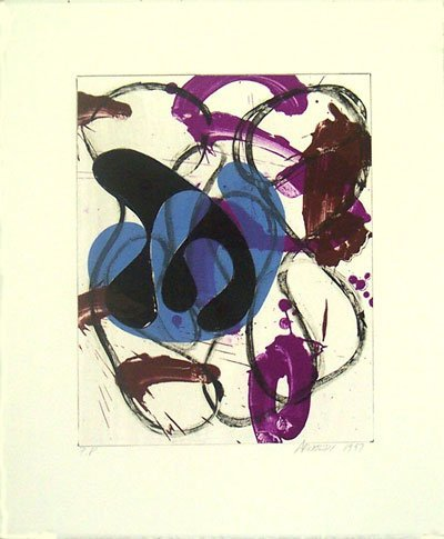 3521: Charles Arnoldi Lithograph Pencil Signed & Number