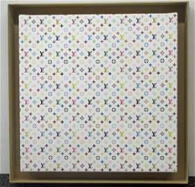 3837: Takashi Murakami Canvas Louis Vuitton Signed & Nu