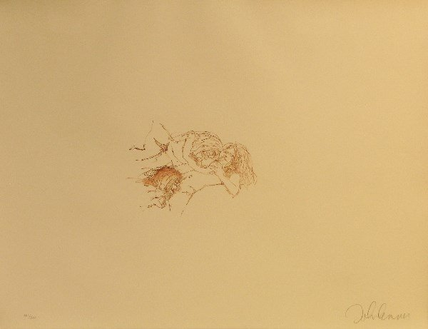 4407: John Lennon Bag One Lithograph Pencil Signed & Nu