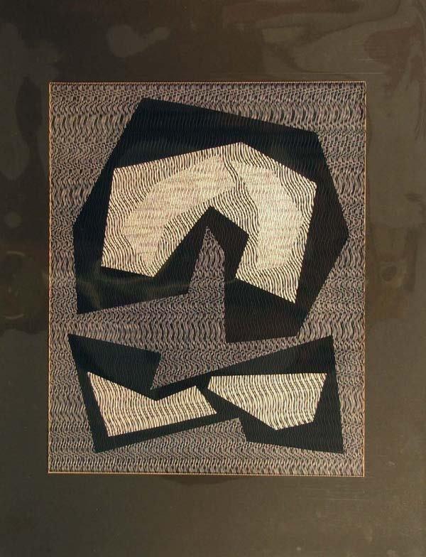 4408: Mon Levinson Op Art Silkscreen & Acetate Signed &