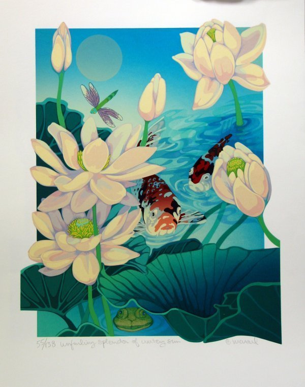 4431: Marcel Serigraph Koy Fish Signed & Numbered