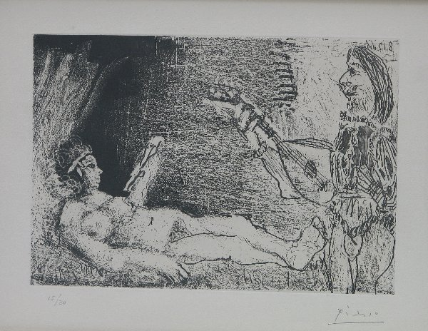 4526: Pablo Picasso Etching Aquatint Pencil Signed Edit