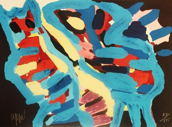 4114: Karel Appel Lithograph Pencil Signed & Numbered