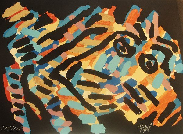 4115: Karel Appel Lithograph Pencil Signed & Numbered