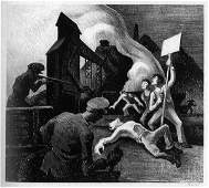 4141: Thomas Hart Benton Lithograph Pencil Signed