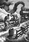 4144 Thomas Hart Benton Lithograph Pencil Signed