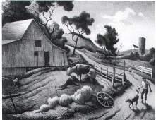 4145: Thomas Hart Benton Lithograph Pencil Signed