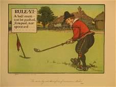 4208: Charles Crombie Golf Lithograph Circa 1905