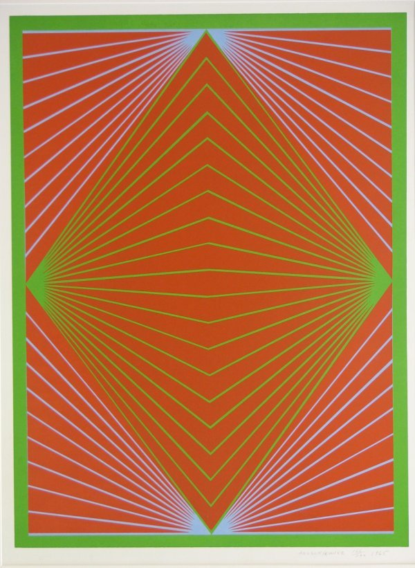 5006: Richard Anuszkiewicz Lithograph Pencil Signed & N