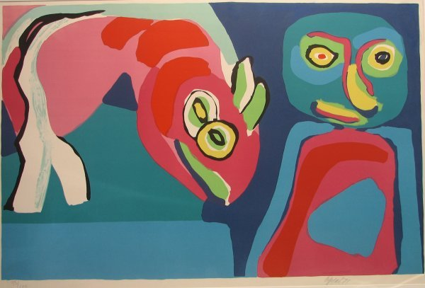 5012: Karel Appel Lithograph Pencil Signed & Numbered