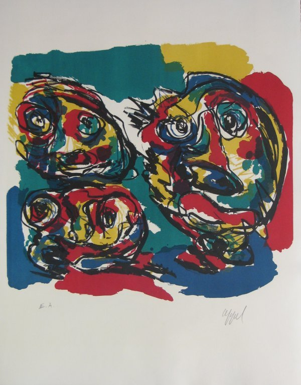 5013: Karel Appel Lithograph Pencil Signed & Numbered