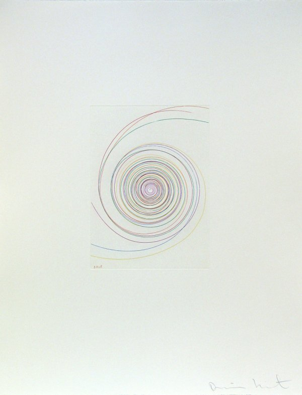 5208: Damien Hirst Spin Etching Aquatint Pencil Signed