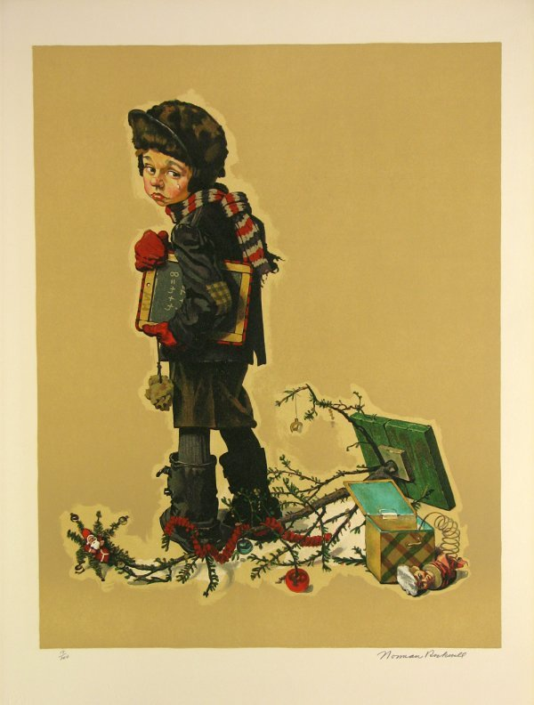5422: Norman Rockwell Lithograph Pencil Signed & Number