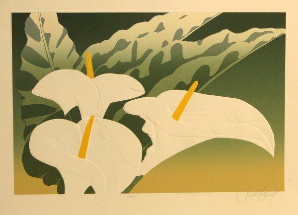 5606: David Allgood Florals Embossed Lithograph Pencil