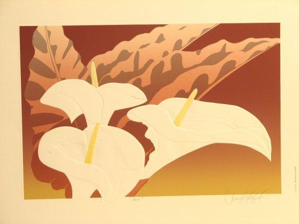 5607: David Allgood Florals Embossed Lithograph Pencil