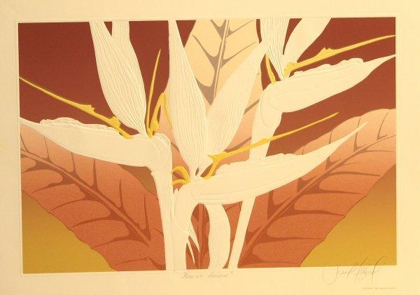 5608: David Allgood Florals Embossed Lithograph Pencil
