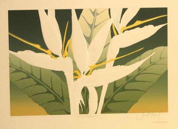 5609: David Allgood Florals Embossed Lithograph Pencil