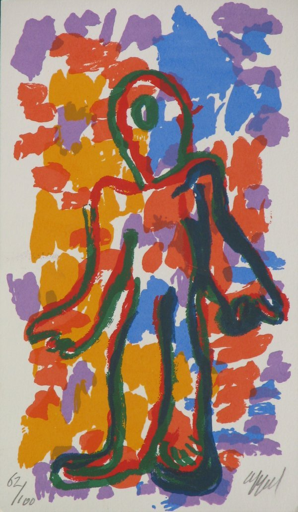 5613: Karel Appel Lithograph Pencil Signed & Numbered